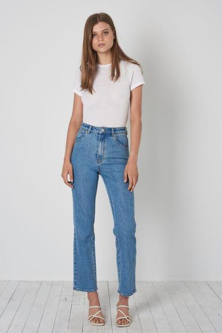 Rollas Original Straight Jeans - Cindy Blue