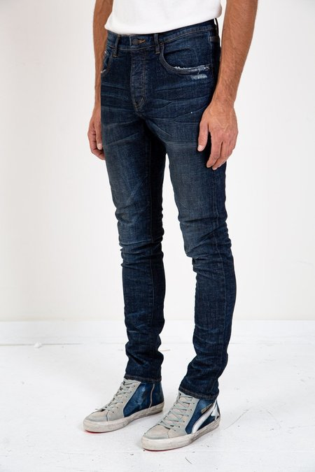 Purple SLIM FIT BLACK INDIGO WASH - DARK