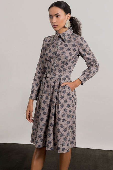 Jennifer Glasgow Matamba Dress - Sand Print