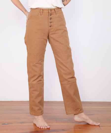 Carleen-One-Tone Jeans - Wheat