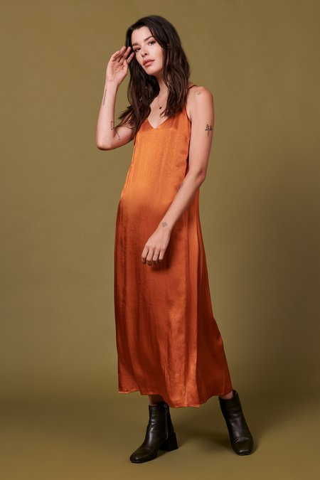 Whimsy + Row Jade Dress - Shiny Rust