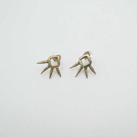 Monica Squitieri Joshua Tree Earrings - Brass