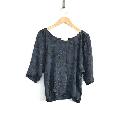 Allison Wonderland Lake Blouse - Blue Floral