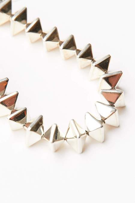 Trent Lee-Andersen Octahedron (Dice) Bracelet - Silver