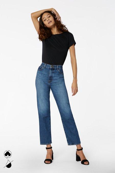 J Brand Jules High Rise Straight Jean - Metropole blue