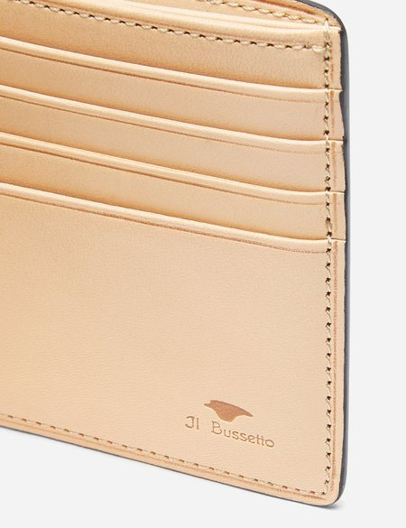 Il Bussetto Leather Bi-Fold Wallet - Light Brown