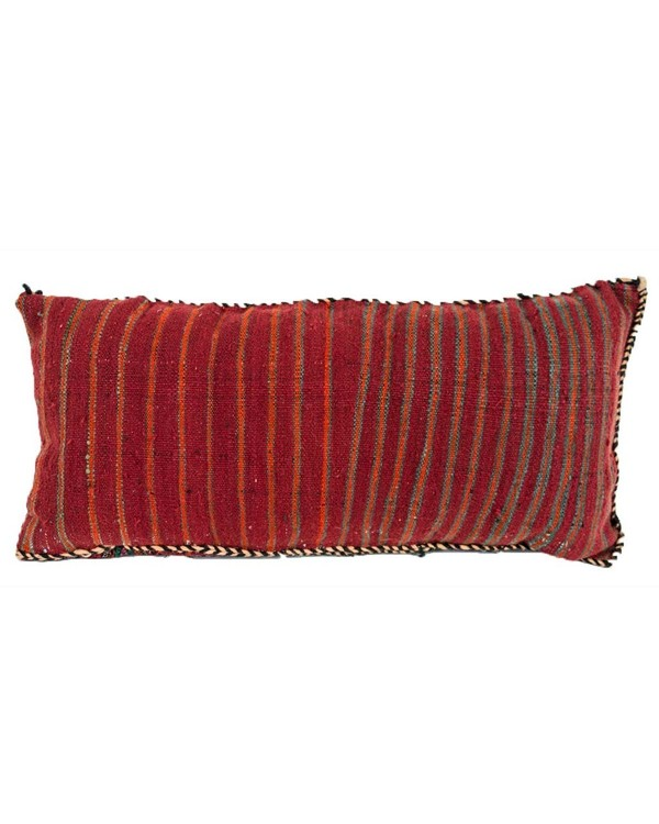 Vintage Geometric Red Moroccan Kilim Pillow