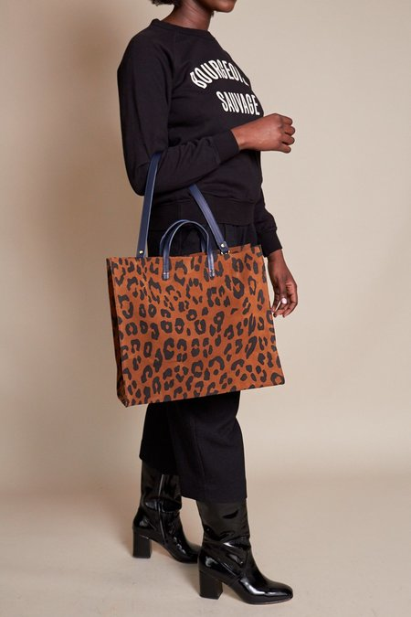 Clare V. Simple Tote - Cognac Pablo Cat Suede