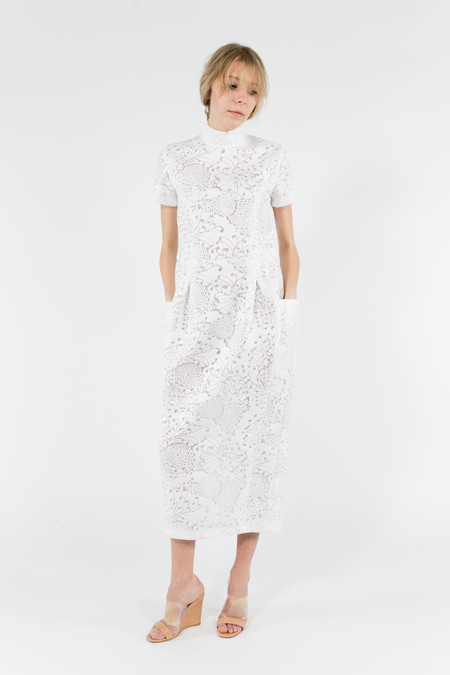 Suzanne Rae Mock Neck S/S Dress