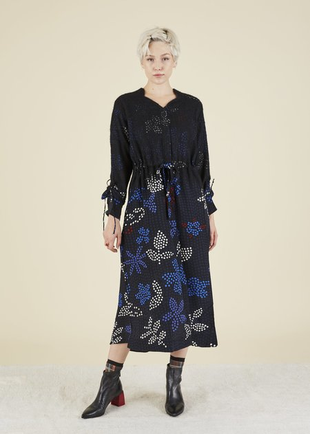Mii Collection Cosmos Dress - navy/multi