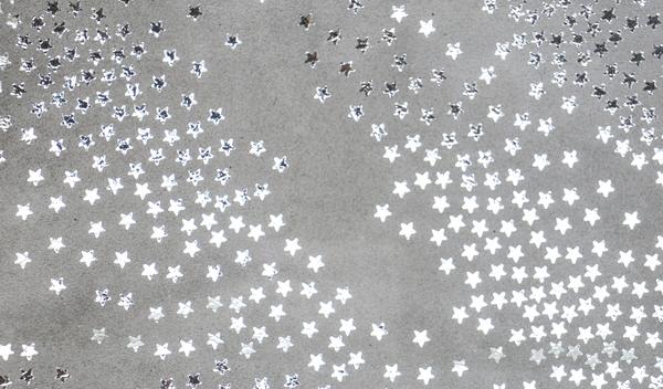 Clare Vivier Foldover Clutch -  Grey Suede w/ Silver Stars