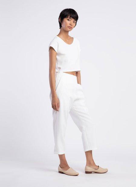 KAAREM Sua Tapered Trouser Pocket Pant - White