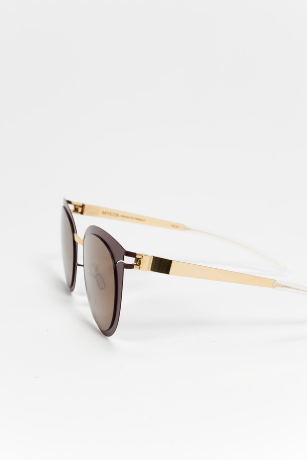 MYKITA Priscilla Sunglasses Gold/Burgundy