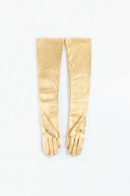 DRIES VAN NOTEN Gloves - Gold