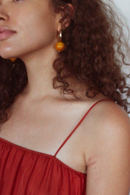 Modern Weaving C-Curve Hoop Earrings - Sterling Silver