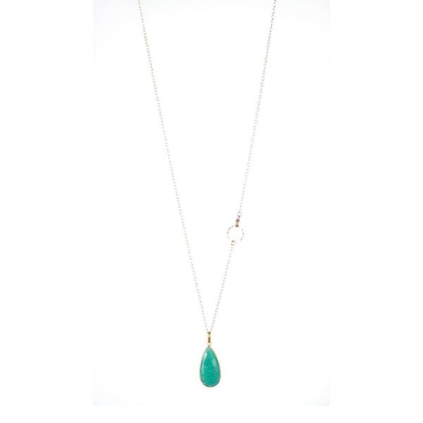Lisbeth Gold Amazonite Drop Necklace