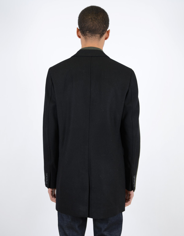 Ben Sherman Covert Coat Jet Black