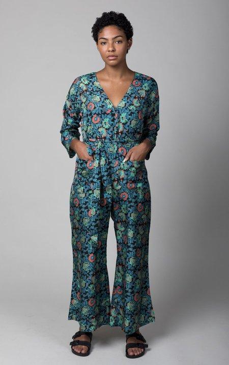 Apiece Apart Cay Wide Leg Jumpsuit - Avignon Floral Black