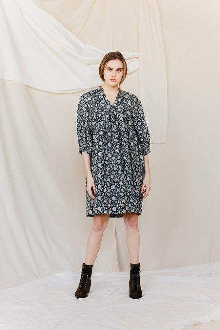 Voloshin Alicia Poet Dress - Midnight Prairie