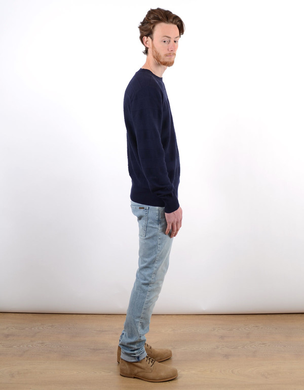 Men's Deus Basic Crew Sweater Navy