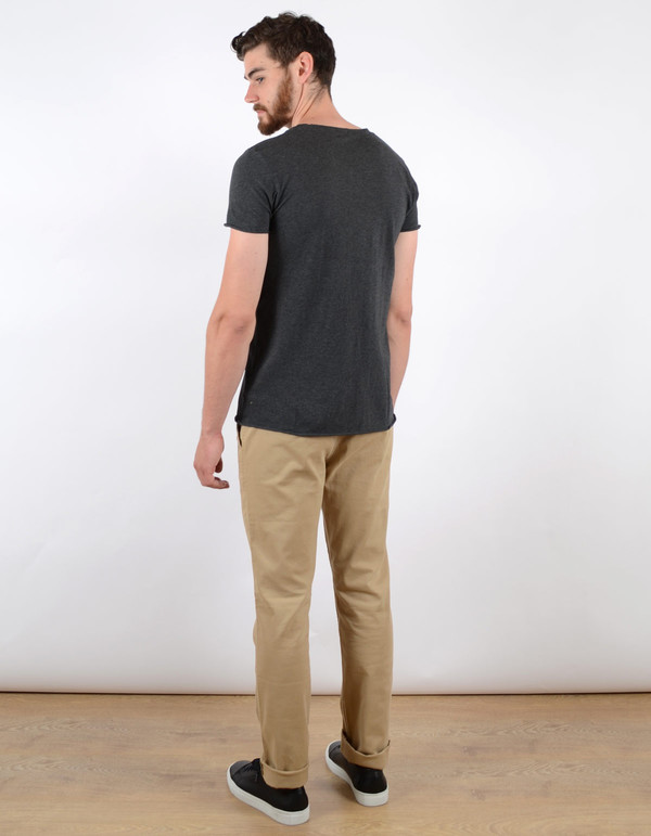 Men's Filippa K Melange Tee Dark Grey Melange