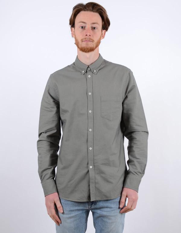 Filippa K Paul Oxford Shirt Dusty Green Dusty Laurel