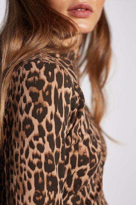 Cameo Were You Waiting Top - Brown Leopard