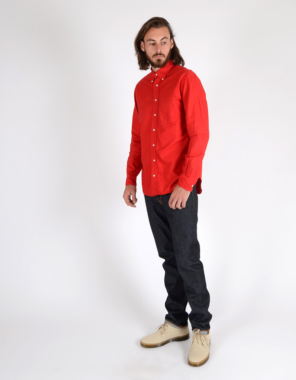 Gitman Brothers Vintage Button Down Oxford Red
