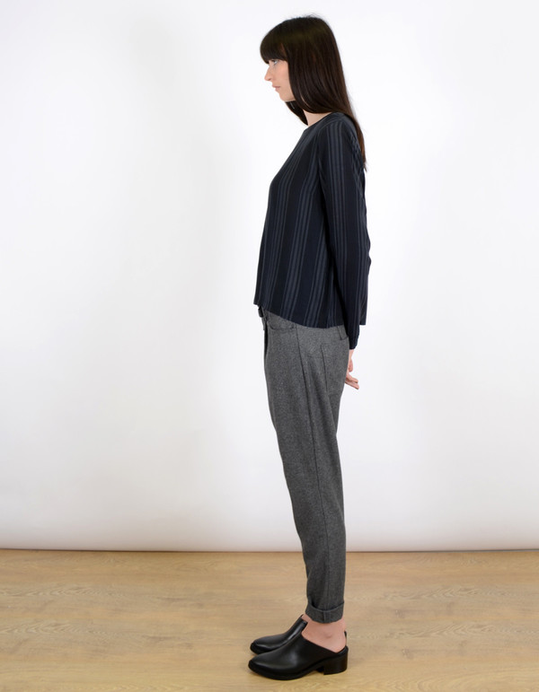 Just Female Liberty Wool Trousers Grey Melange