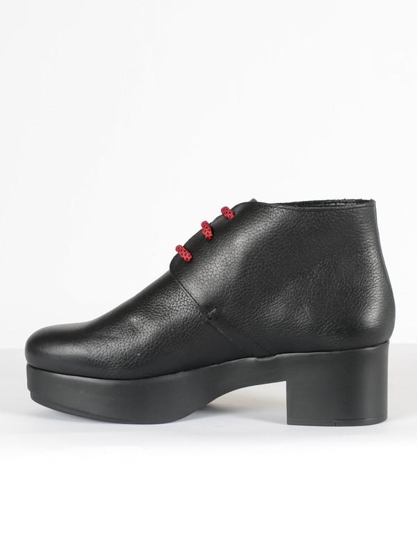 Miista Dora Lace-Up Boot Black