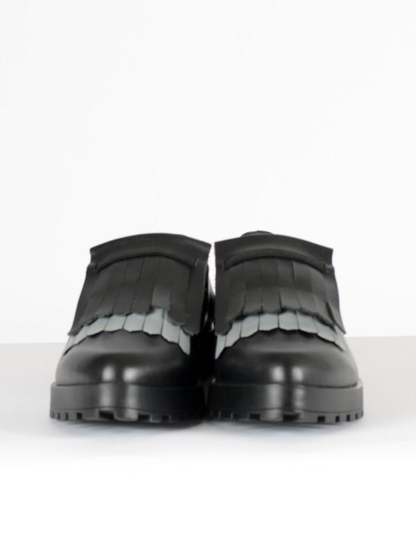 Miista Juliette Tasseled Loafer Black Reflect