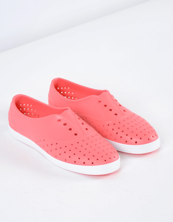 Native Shoes Native Jericho Snapper Red with Shell White