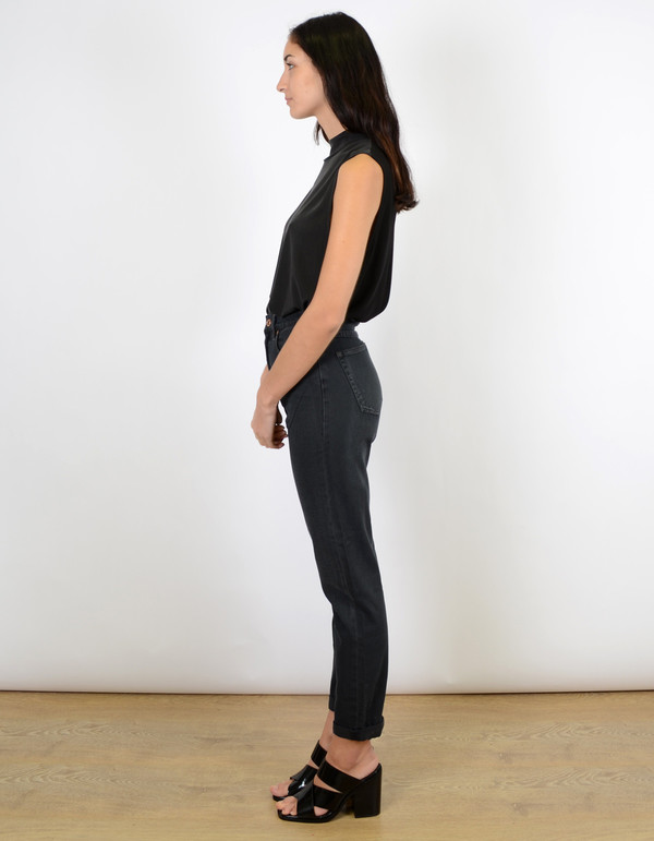 Neuw Lola High Rise Relaxed Jean Black Stoned