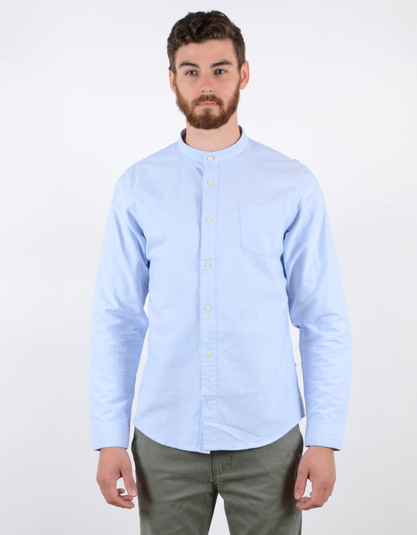 Men's No Nationality Samuel Banded Oxford Shirt Light Blue