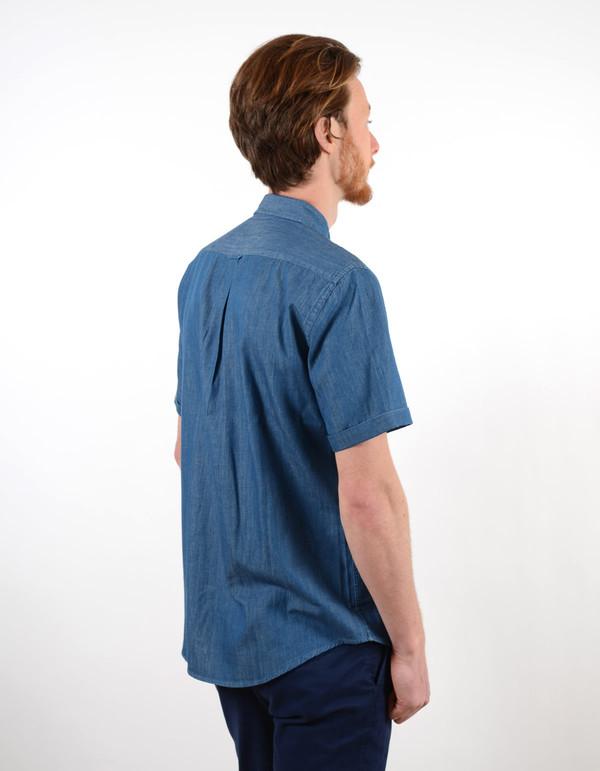 Men's No Nationality No Nationalty New Derek Short Sleeve Shirt Blue