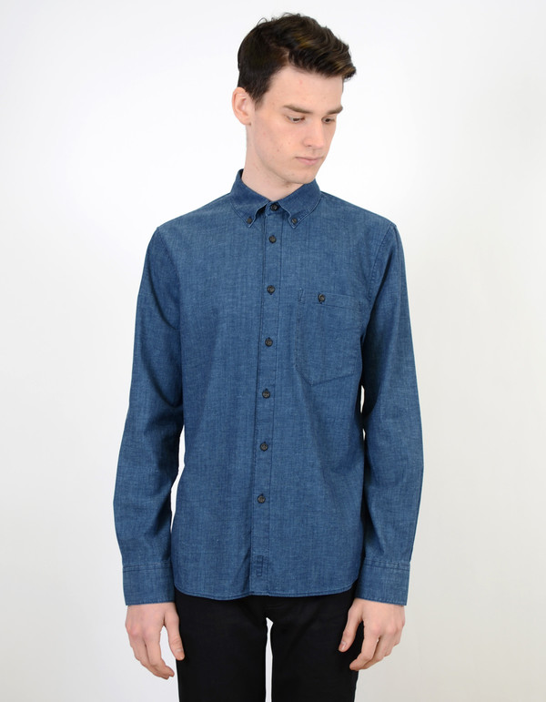 Nudie Stanley Shirt Deep Blue