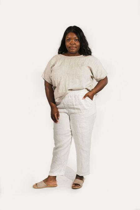 Two Fold Clothing Krissy Cotton Linen Stripe Tee