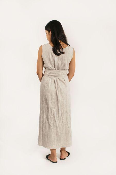 Two Fold Clothing Kayo Cotton Linen Stripe Dress