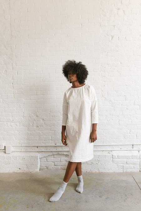 Two Fold Clothing Rebecca Cotton Poplin Dress - Snow