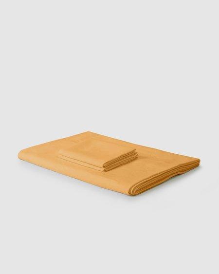 Shop Sunday Morning Marcel Linen Duvet Set - Mustard