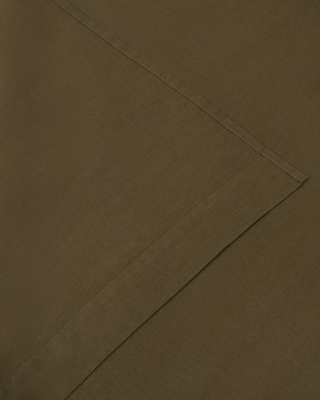 Shop Sunday Morning Marcel Linen Flat Sheet - Moss