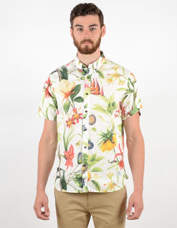 Men's Penfield Colima Botanical Shirt White