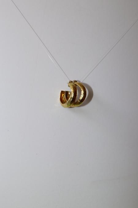 Leigh Miller Marblized Hoop Earrings - Brass