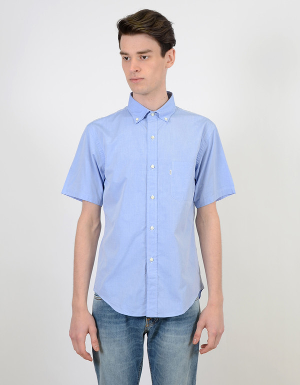 Men's Shuttle notes Shuttlenotes 1002 Officer Shirt Light Blue