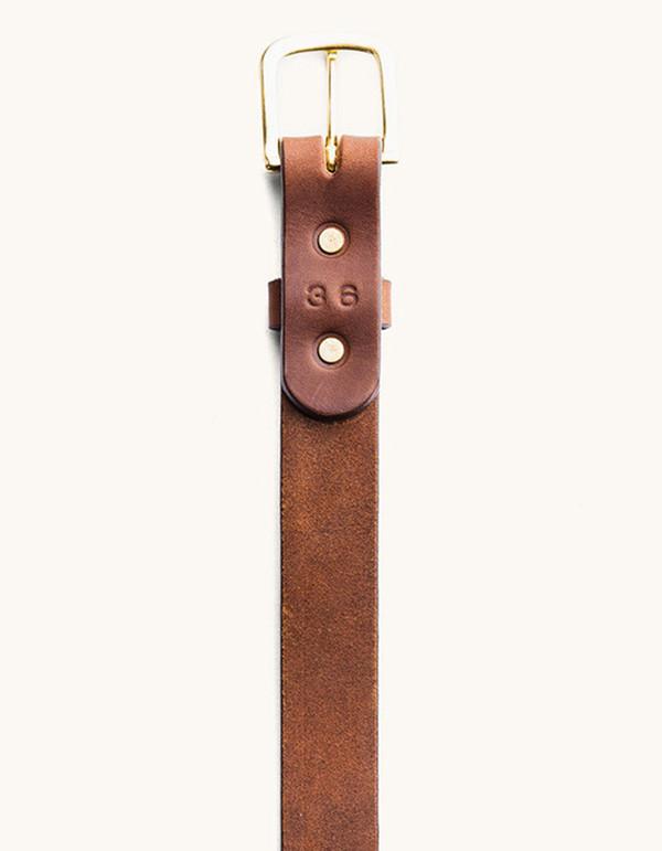 Men's Tanner Goods Classic Belt Cognac Brass