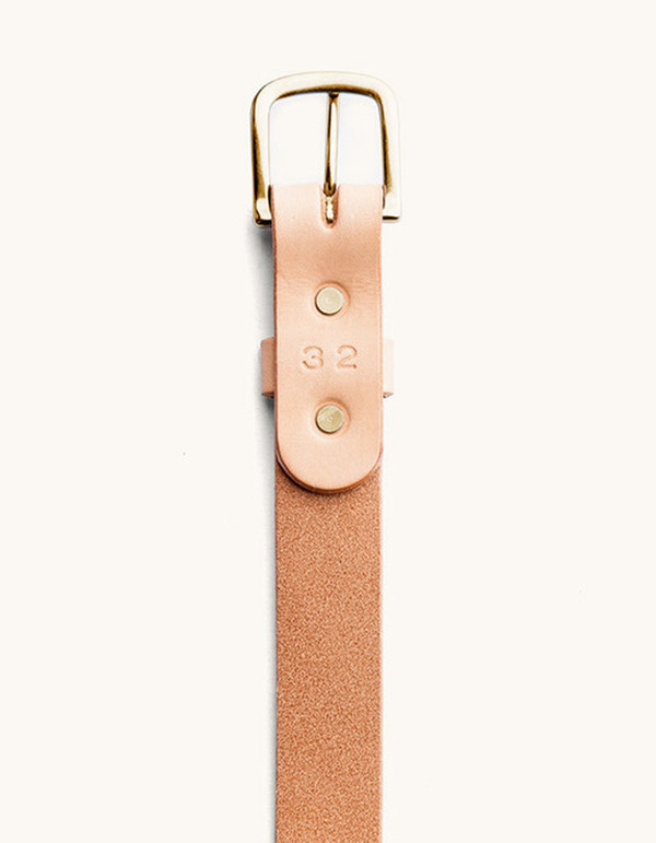 Men's Tanner Goods Classic Belt Natural Brass