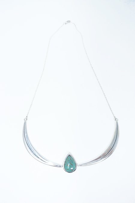 Talon Turquoise Wings Necklace - Silver