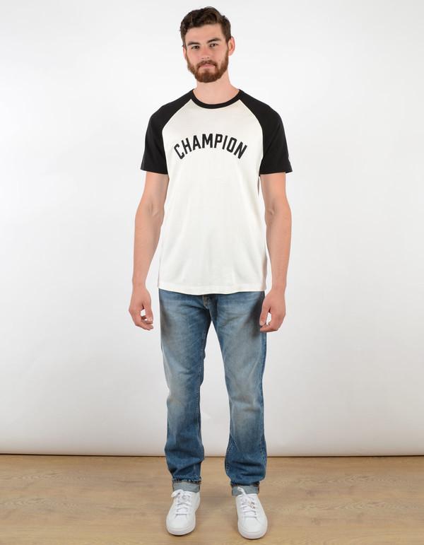 Men's Todd Snyder x Champion Short Sleeve Plated Raglan Vintage White