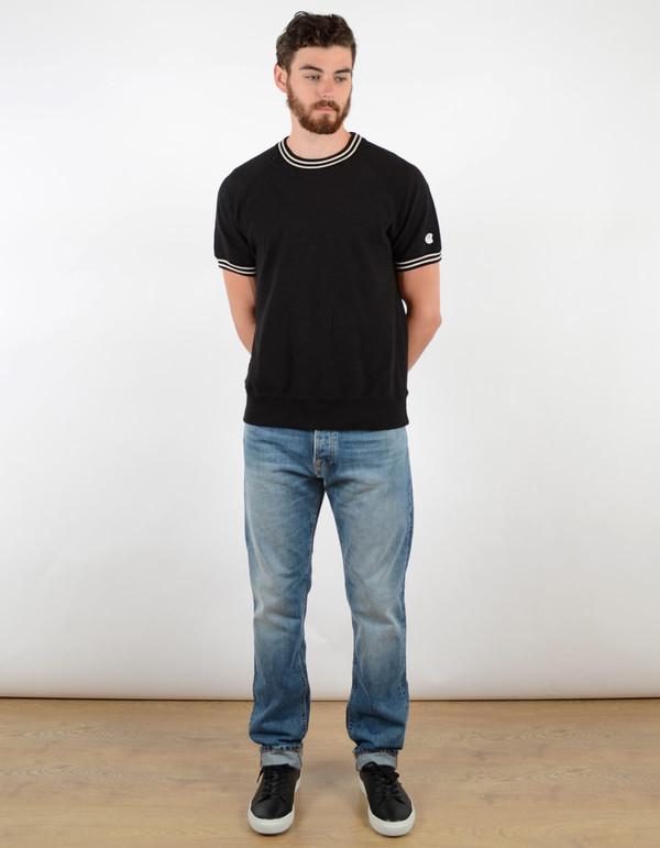 Men's Todd Snyder x Champion Short Sleeve Raglan Crew Black