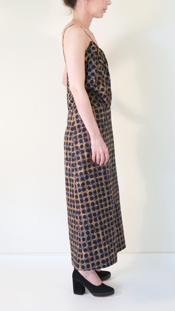 A Détacher Dora Dress in Black Floral Dot Print